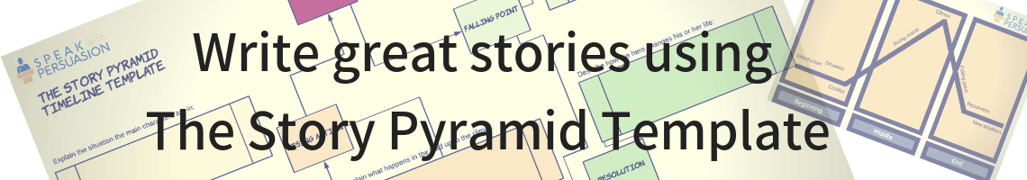 write great stories using the story pyramid template